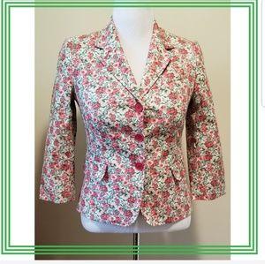 {Talbots} Floral Lined Jacket